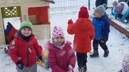 Zima na naszym placyku