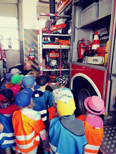Spotkanie ze Strażakami z Powiatowej Komendy Państwowej Straży Pożarnej w Pruszczu Gda